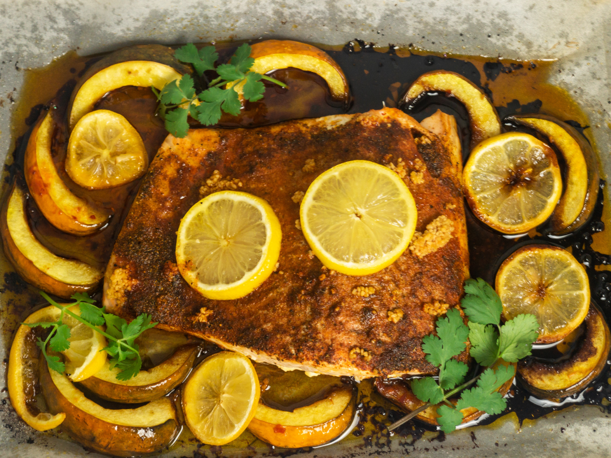Slow-Roasted Moroccan Salmon