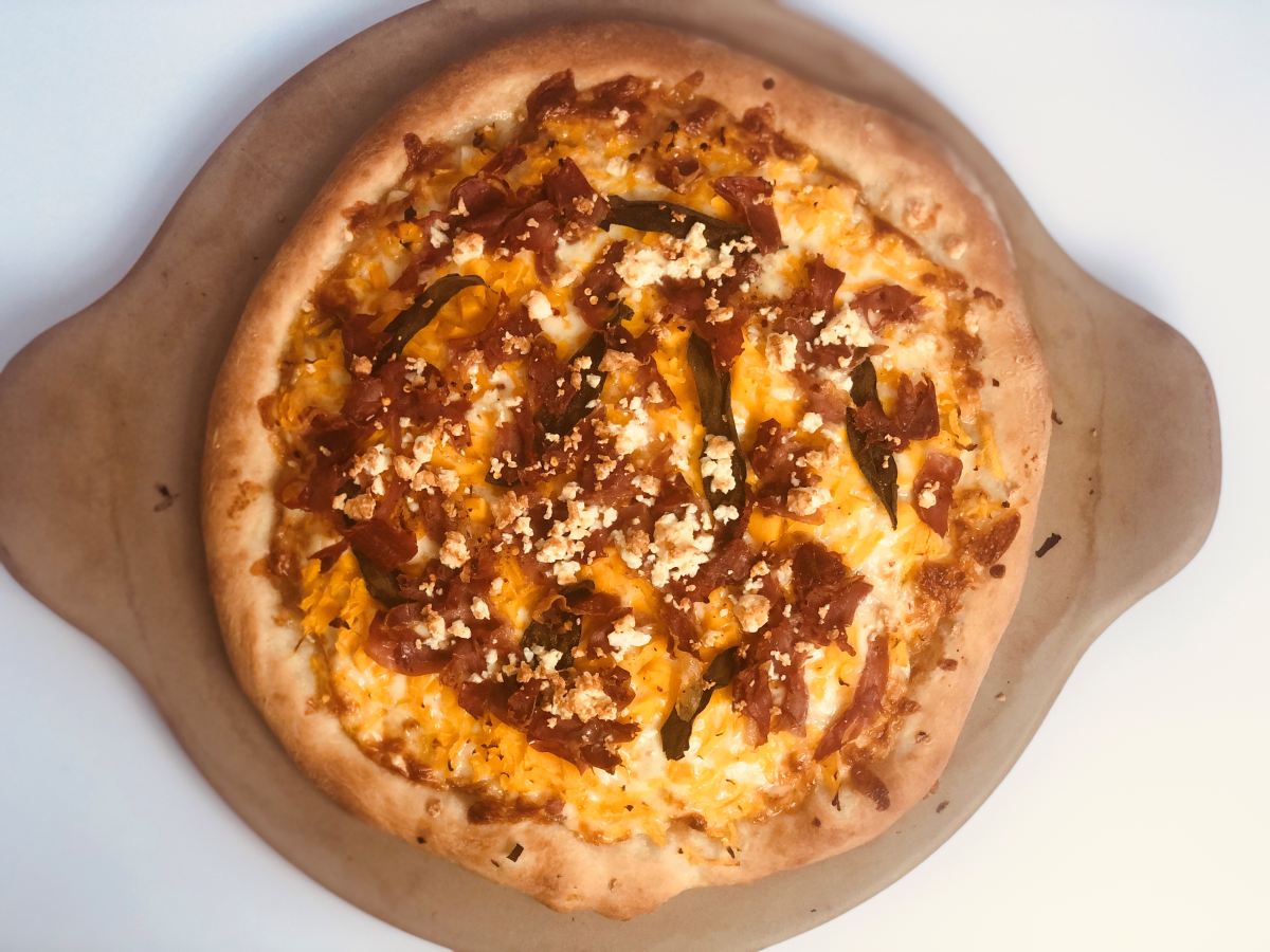 Butternut Squash and Apple Pizza